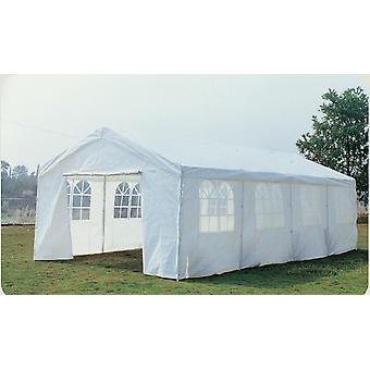 Charles Bentley 8 M X 4 M stor have Marquee bryllup/fest telt lysthus - hvid meshpanel Pe