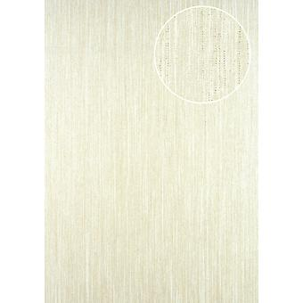 Stripes ATLAS perl-beige 5.33 m2 CLA-596-6 non-woven wallpaper smooth with graphic patterns perl glittering beige white