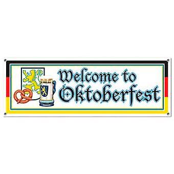 Добро пожаловать на Октоберфест подписать баннер
