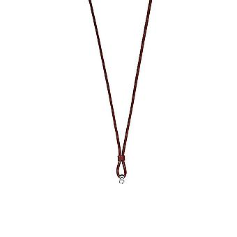 ESPRIT ladies chain charms silver Charmskette leather 75 cm ESNL92251C750