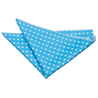 Egg Blue Polka Dot Pocket Square di Robin