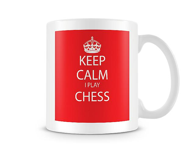 Keep Calm I Do Chess Printed Mug