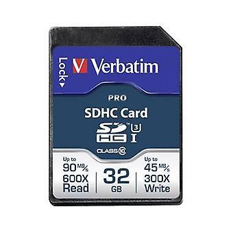 Verbatim PRO SDHC card 32 GB Class 10 UHS-I, Class 10