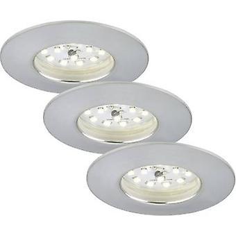 Briloner 7231-039 LED Empotrable luz conjunto 3 piezas 16,5 aluminio W blanco cálido
