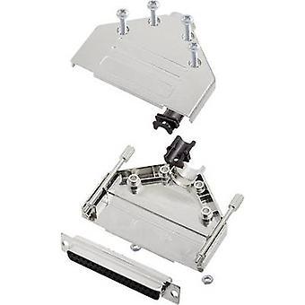 D-SUB receptacle set 180 ° Number of pins: 37 Solder bucket encitech DTPK-M-37-DBS-K 1 Set