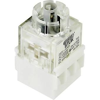 Contact + bulb holder 2 makers momentary 250 V