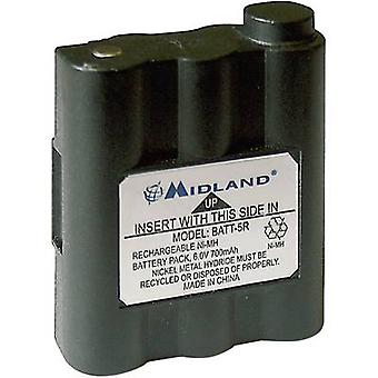 Walkie-talkie battery Midland Replaces original battery PB-ATL/G7 6 V 700 mAh