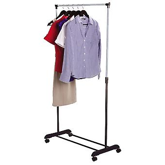 Double Clothes Rail Adjustable Coat Rack Wardrobe Portable Hanging Stand Storage
