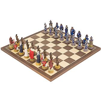 The King Arthur hand painted themed Chess set by Italfama