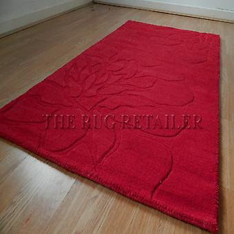 Rugs -Floral Rose - Red