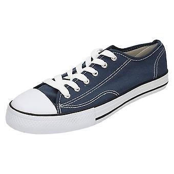 Herre Spot på lærred blonder sko