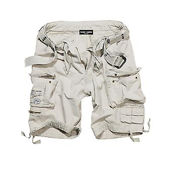 Francis HANNA men's cargo shorts old white