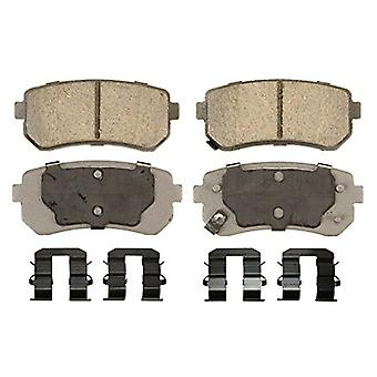 Wagner ThermoQuiet QC1398 Ceramic Disc Pad Set With Installation Hardware, Rear
