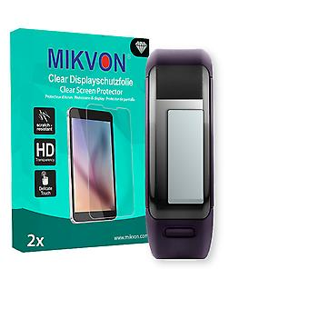 Garmin vivosmart HR Screen Protector - Mikvon Clear (Retail Package with accessories) (intentionally smaller than the display due to its curved surface)