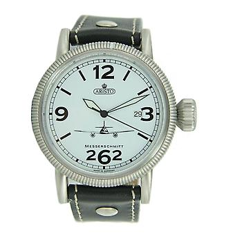 Aristo Men's Messerschmitt ME 262 White clock Fliegeruhr 3H262-3