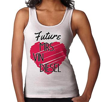 Zukunft Frau Vin Diesel Liebe Herz Damen Weste