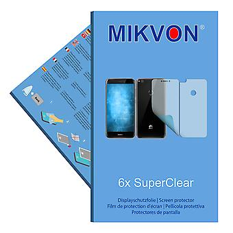 Huawei P8 Lite (2017) screen protector- Mikvon films SuperClear (3x FRONT / 3x BACK) (intentionally smaller than the display due to its curved surface)