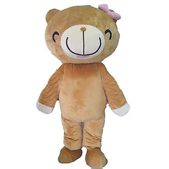 mascot bear beige and white, with a broad smile SPOTSOUND