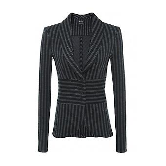Isabel De Pedro Women's Structured Stripe Tuxedo Blazer