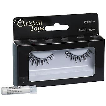 Christian Faye Eyelashes Even With Glue