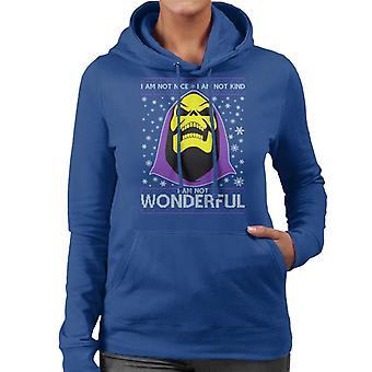 He Man Skeletor Christmas Knit Pattern Women's Hooded Sweatshirt