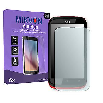 HTC Desire Q Screen Protector - Mikvon AntiSun (Retail Package with accessories)
