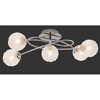 Trio Lighting Wire Modern Chrome Metal Ceiling Lamp