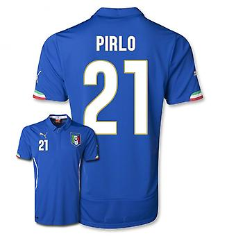 2014-15 Italy World Cup Home Shirt (Pirlo 21)