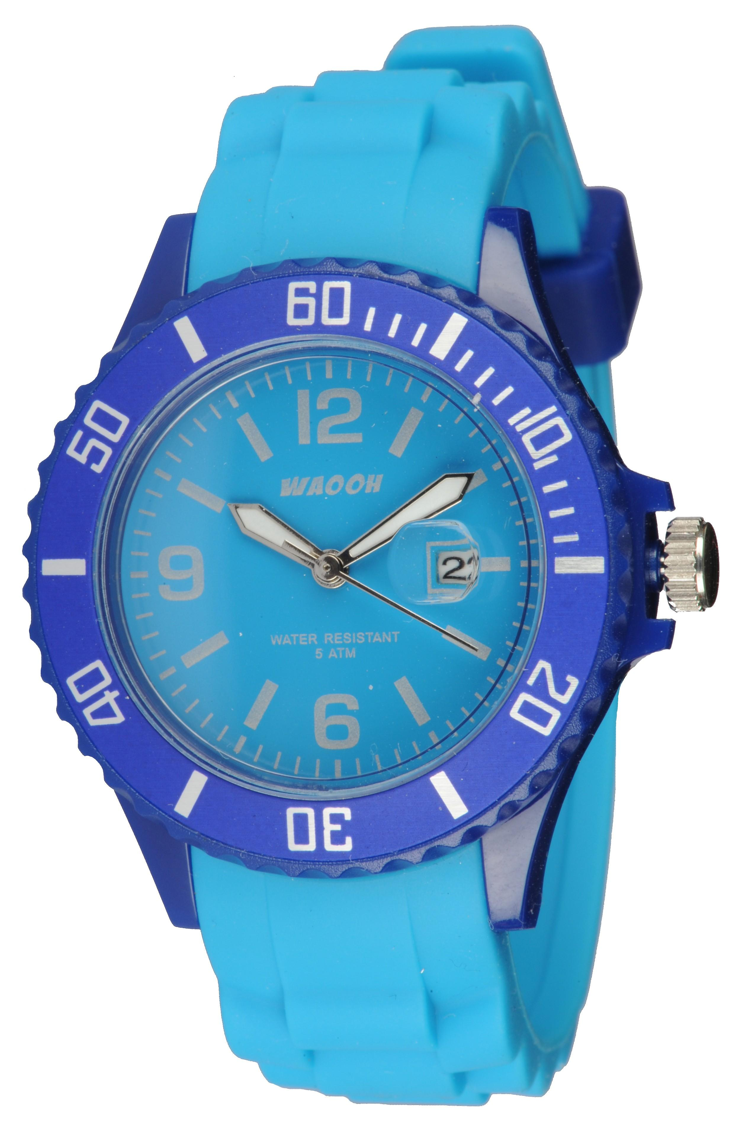 Waooh - Watch Monaco34 - Bicolor Blue &