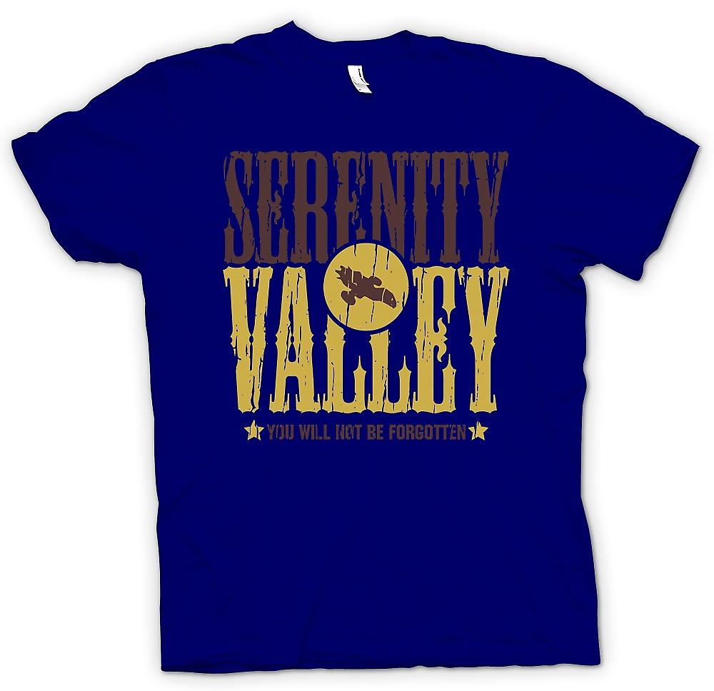 Mens T-shirt - Serenity Valley - You Will Not Be Forgotten