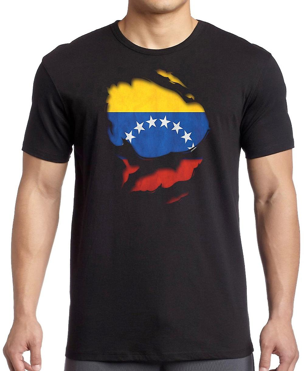 Venezuela Ripped Effect Under Shirt T Shirt