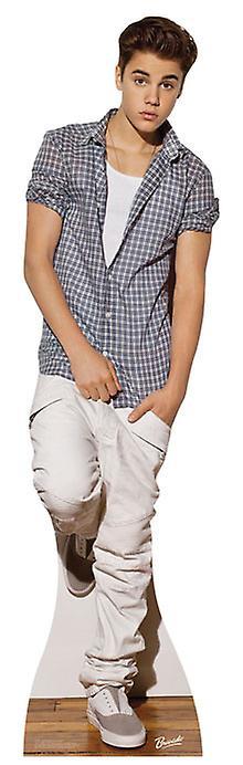 Justin Bieber iklädd Check skjorta Lifesize kartong släppandet / stående