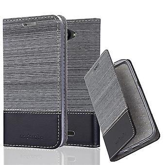 Cadorabo BQ Aquaris U / U Lite - sleeve case with stand function and compartment in the fabric design - case cover sleeve case bag book