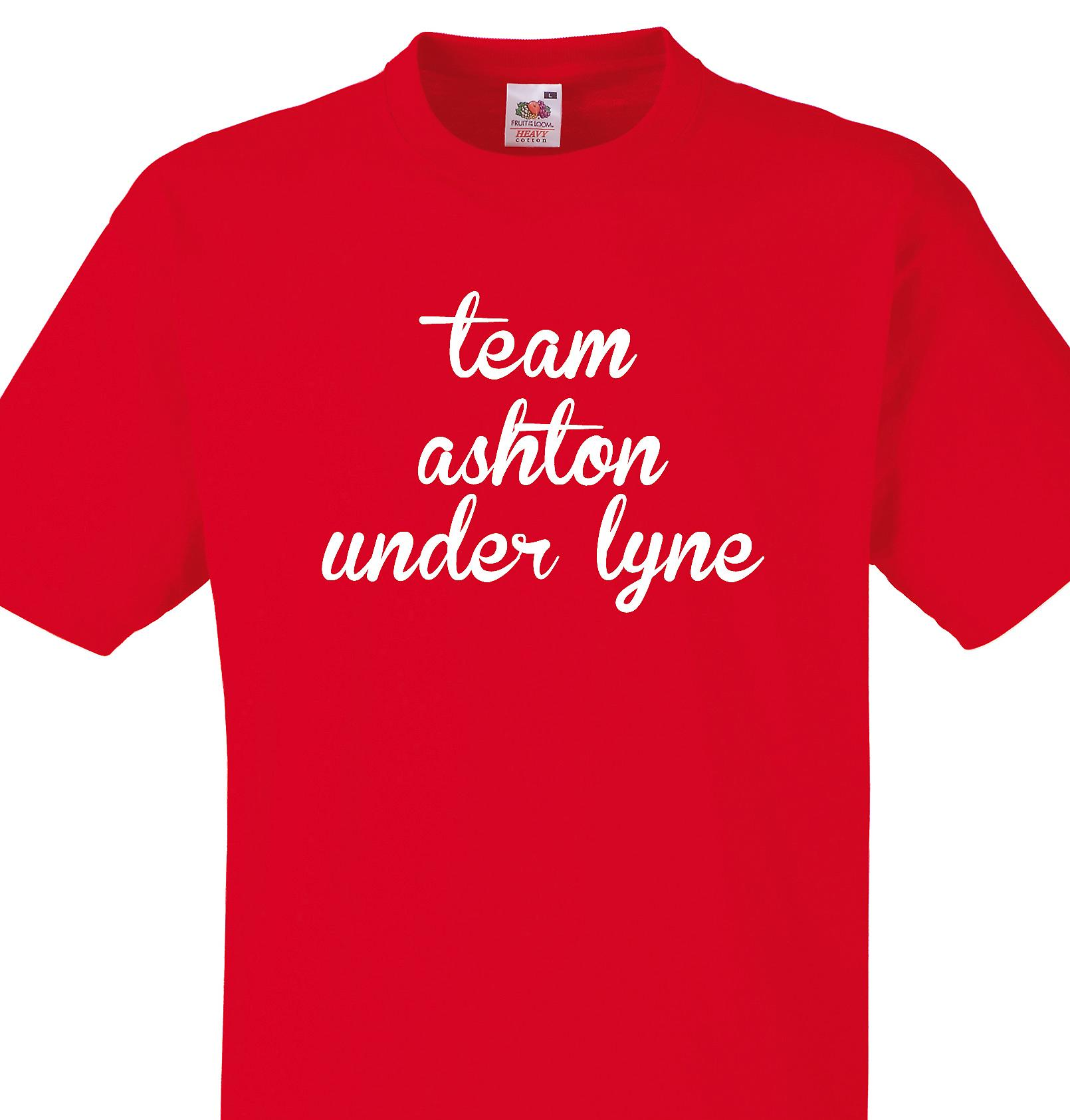 Team Ashton under lyne Red T shirt