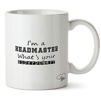 Hippowarehouse ik ben een rector wat is uw supermacht? Bedrukte mok Cup keramiek 10oz