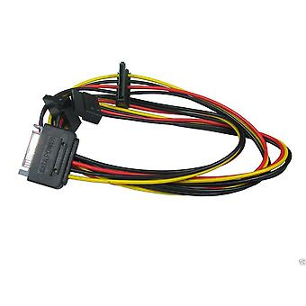 Sata Male to 3 Way Sata Female Power Splitter Cable Hard Drive Adaptor HDD