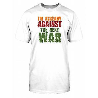 Jeg allerede mot neste krigen - sitat morsomt Mens T-skjorte