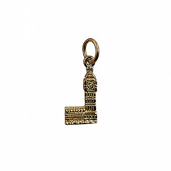 9ct Gold 15x8mm Big Ben Pendant or Charm