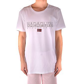 Napapijri White Cotton T-shirt