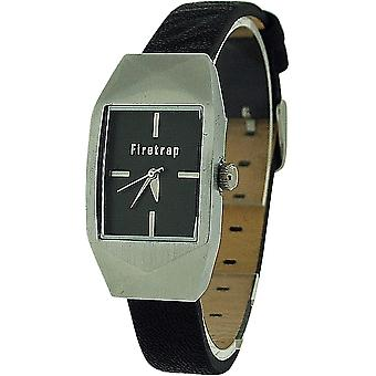Firetrap Ladies Analogue Black Dial & Black Leather Strap Casual Watch FT1083B