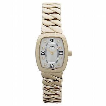 Rotary Ladies Analogue Gold Plated Solid Bracelet Metal Strap Watch LB02441/40