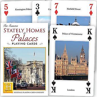 Famosas casas señoriales y palacios deck de 52 naipes + comodines (HPC)