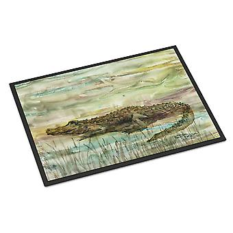Carolines Treasures  SC2016MAT Alligator Sunset Indoor or Outdoor Mat 18x27