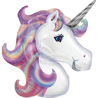 Anagram Supershape Foil Balloon Pastel Unicorn