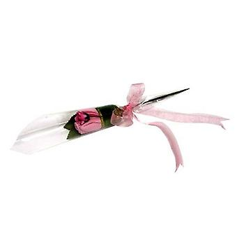 Flower Stork Flower Bud - Sock Rose - Baby Girl Pink