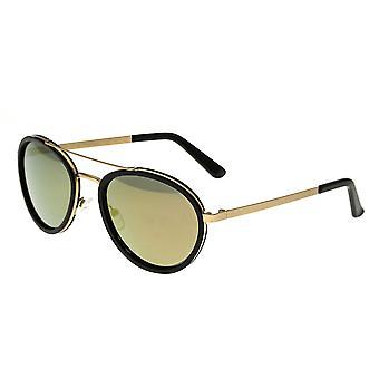 Breed Gemini Titanium Polarized Sunglasses - Gold-Black/Gold-Black