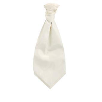 Dobell Elfenbein Dupion Cravat (Pre-Tied & Hand gebunden)