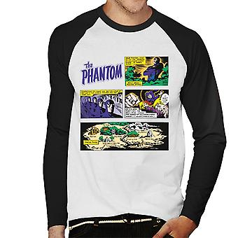 The Phantom Comic Montage Men's Baseball Long Sleeved T-Shirt