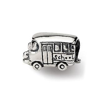 925 Sterling hopea antiikki viimeistely heijastukset SimStars lasten bussi helmi charmia