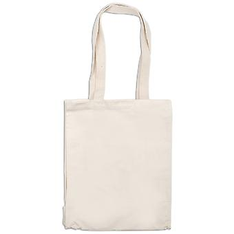 Natural Canvas Tote Bag with Stitched Gusset 10.75